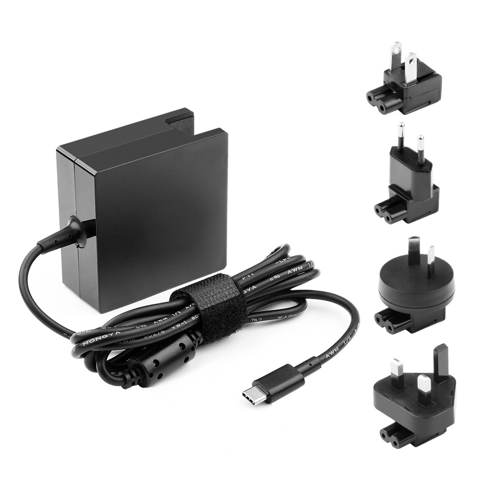 Interchangeable 65W USB C PD Power Supply