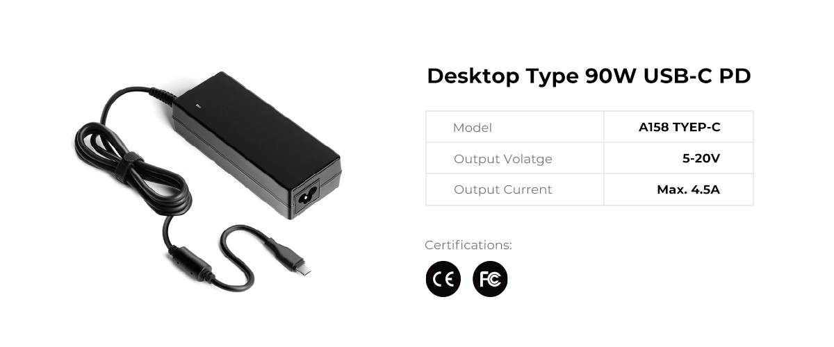 Desktop 90W USB C PD Power Supply